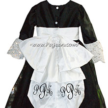 Black Marie Antoinette Style Flower Girl Dresses