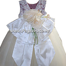 New Ivory and Thistle FLOWER GIRL DRESSES with tulle and Beaded aloncon lace | Pegeen