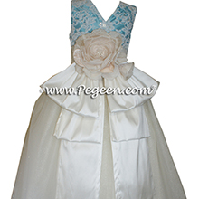 Tiffany Blue tulle ballerina style Flower Girl Dresses Style 697 with layers and layers of tulle