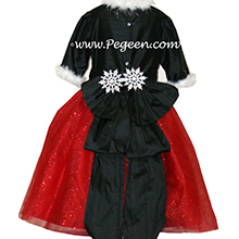 Red and Black Sparkle nutcracker, Clara or Christmas Holiday Flower Girl Dresses