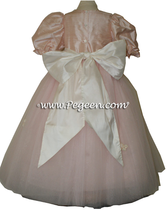 Ballet Pink silk dress for a Nutcracker Performance Style 702 by Pegeen