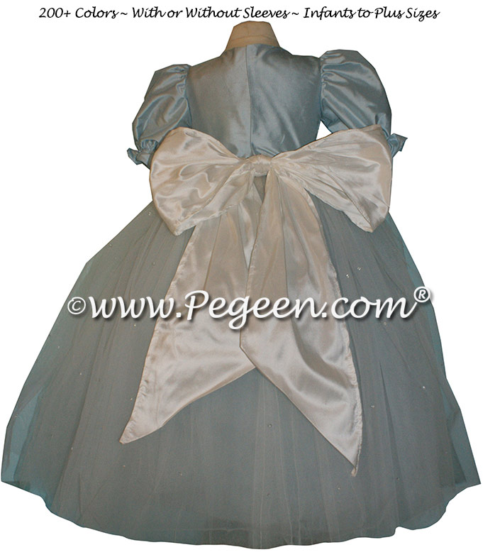 Baby Blue silk dress for a Nutcracker Performance Style 702 by Pegeen