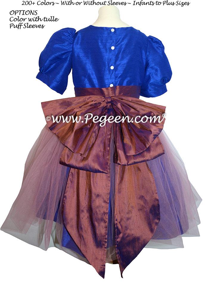 Nutcracker Suite Clara dress in raisin & blue sapphire
