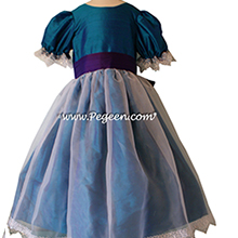 Peacock and Majestic Purple Silk Nutcracker Party Scene Dress Style 703