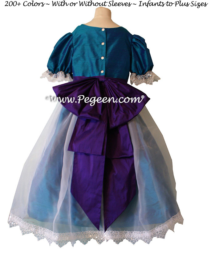 Peacock and Regal Purple Nutcracker Costume for Clara or Party Scene - Style 703