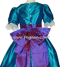 Peacock and Purple Prince Silk Clara Nutcracker Dress
