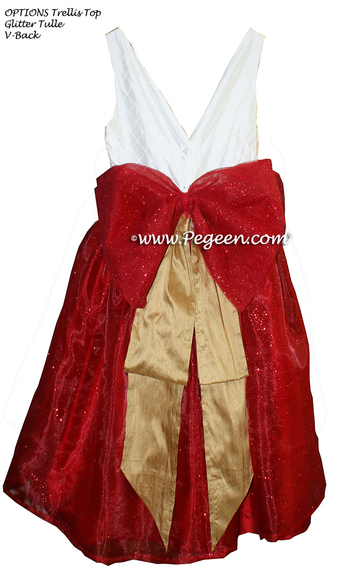 Christmas Red and Spun Gold Nutcracker Party Scene Dress Style 703 by Pegeen