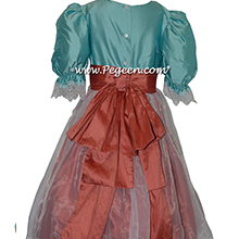 Tiffany Blue and Salmon Flame Clara Nutcracker Party Scene Dress