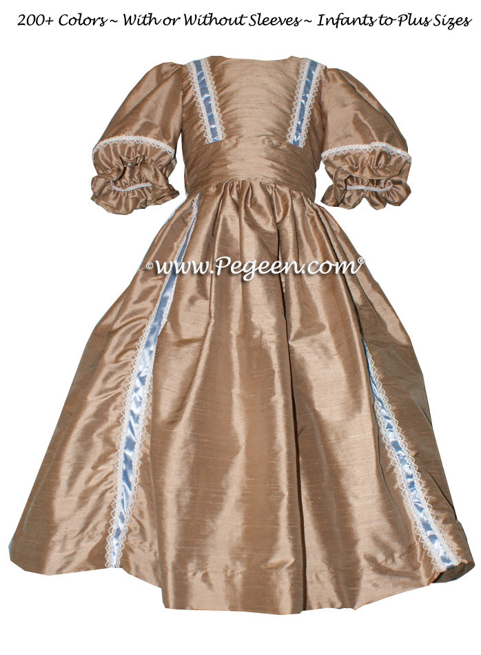 NUTCRACKER PARTY DRESS in Antiqua Taupe - Pegeen Style 760