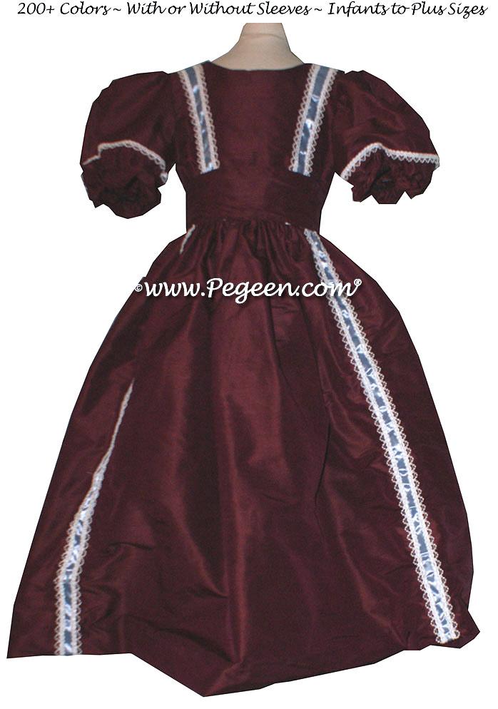 NUTCRACKER PARTY DRESS in Burgundy - Pegeen Style 760