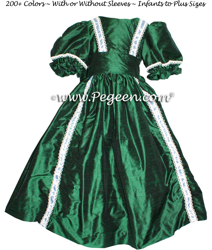Forest Green - Nutcracker Party Scene Dress Style 760 by Pegeen