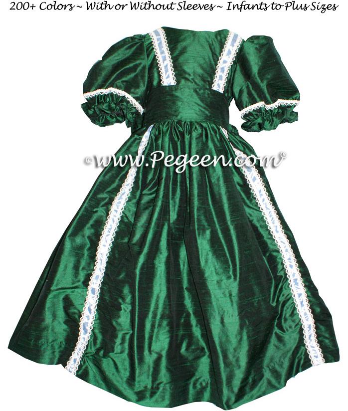 NUTCRACKER PARTY DRESS in forest green