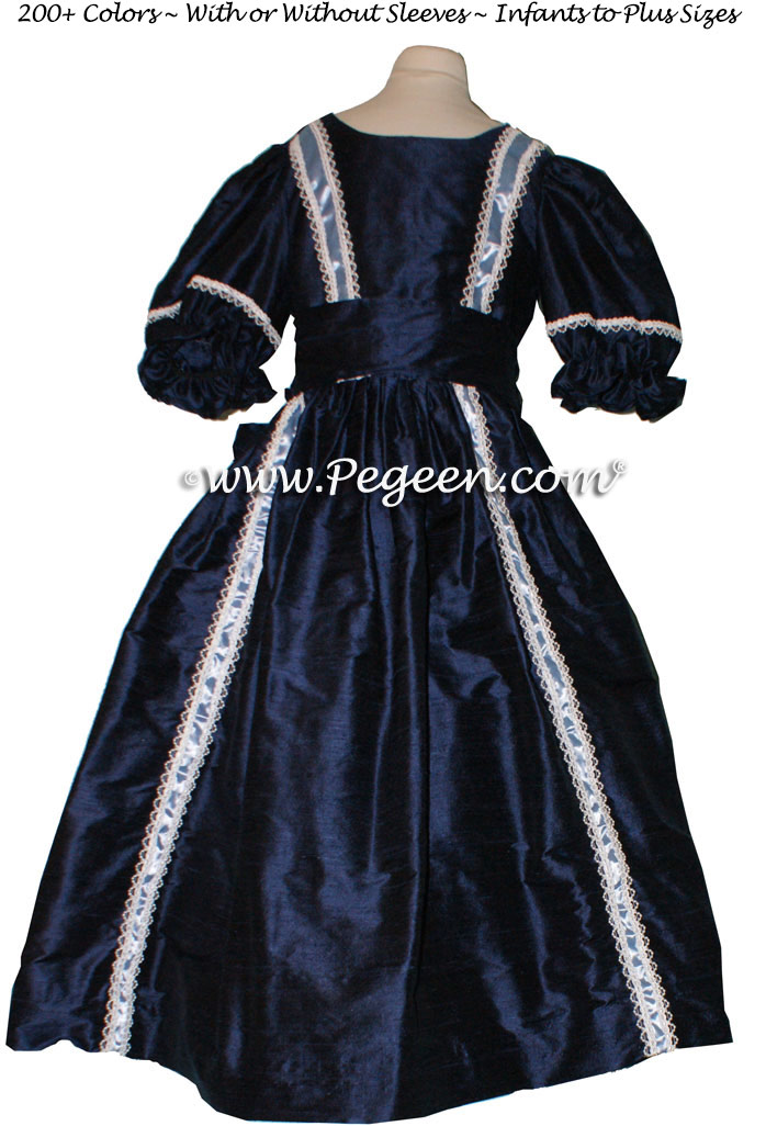 Navy blue - Nutcracker Party Scene Dress Style 760 by Pegeen