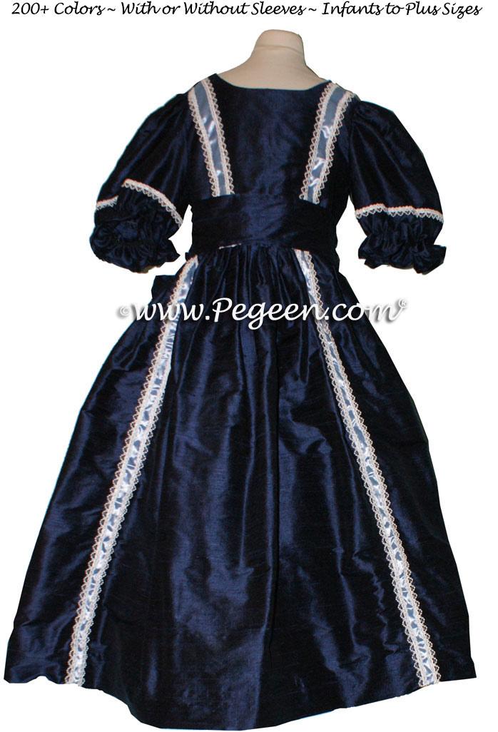 NUTCRACKER PARTY DRESS in navy blue