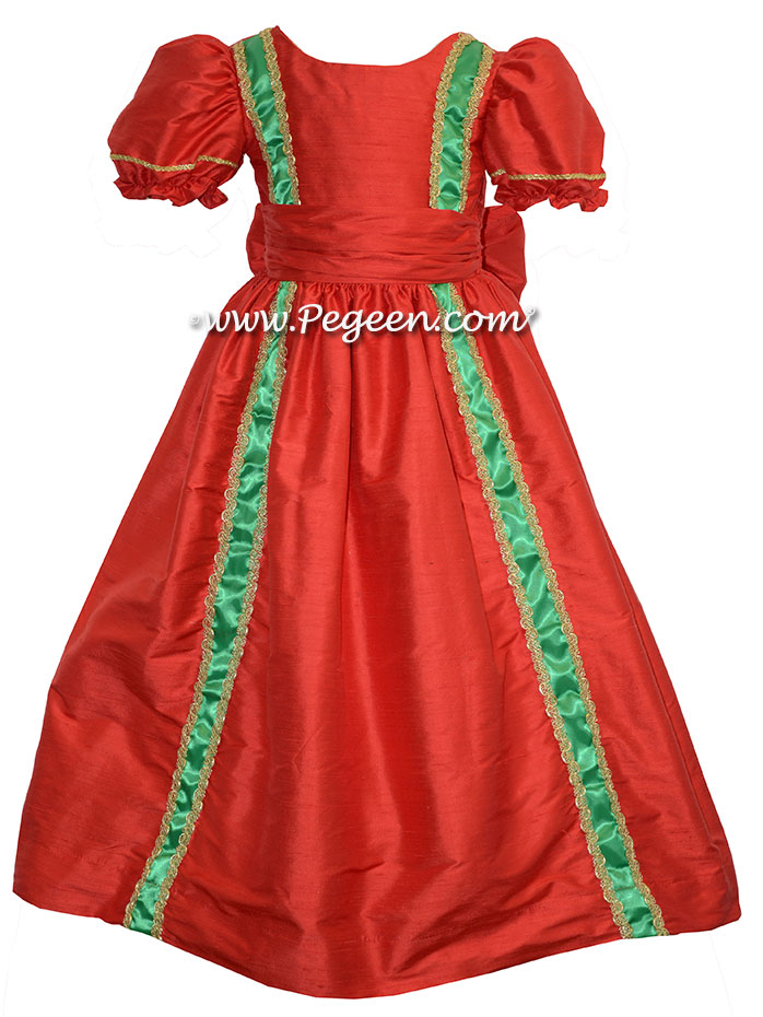 NUTCRACKER PARTY DRESS in Christmas Red for a Nutcracker Performance