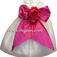 HOT PINK infant flower girl dresses