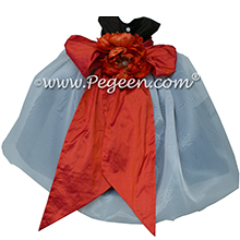 Black and Orange organza Infant Flower Girl Dresses