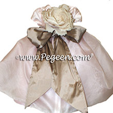 Blush Pink, Antigua Taupe Infant Flower Girl Dresses Style 802