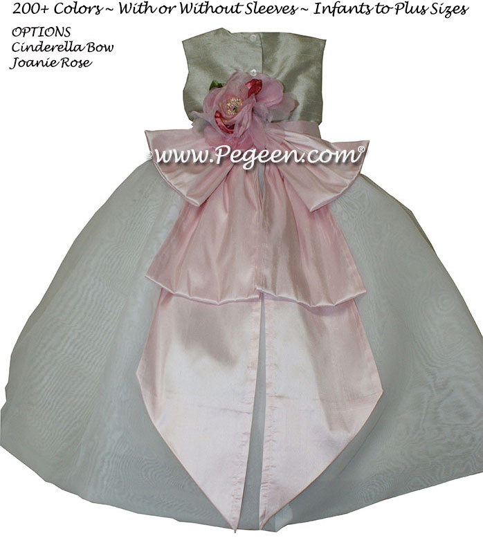Infant Flower Girl Dress in Petal Pink, Morning Gray Style 326 | Pegeen