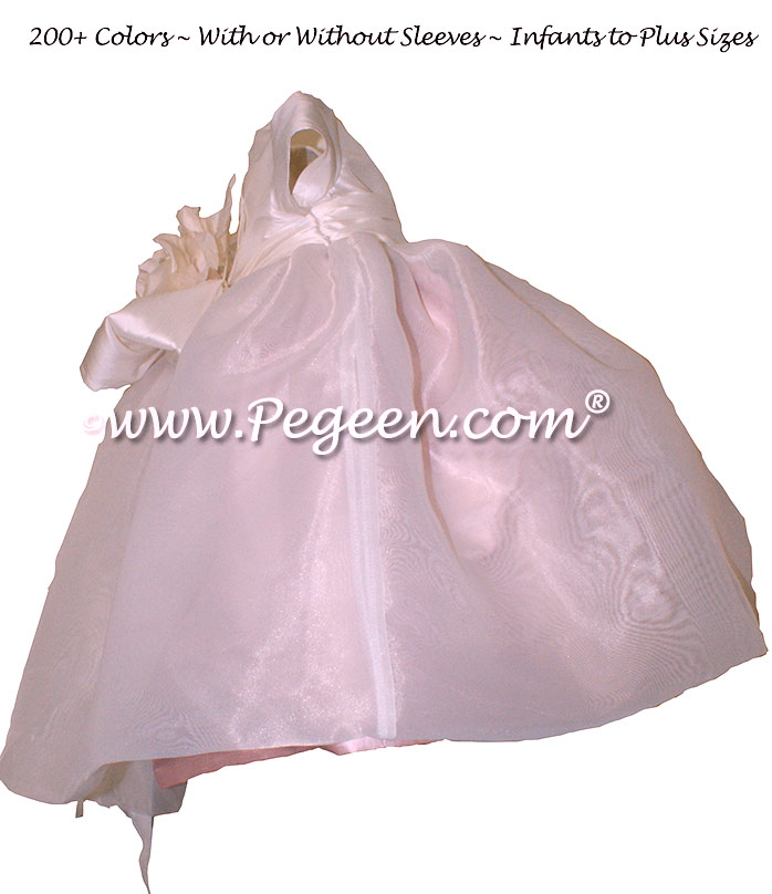 Petal Pink and New Ivory Infant Flower Girl Dresses Style 802