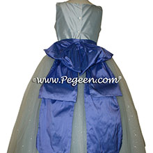 Wisteria Silk with Violet Sash - Our Sleeping Beauty Princess Flower Girl Dresses
