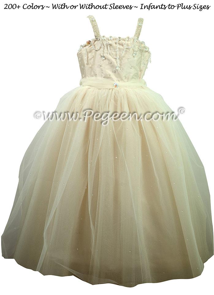 Inventory Flower Girl Dress on Sale - Topaz Dress New Ivory Size 5 & 7