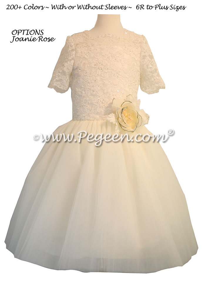 New Ivory ballerina style Bat Mitzvah dresses with layers and layers of tulle