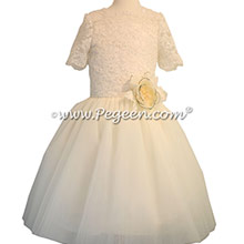 New Ivory tulle Bat Mitzvah dresses with Aloncon Lace with layers and layers of tulle