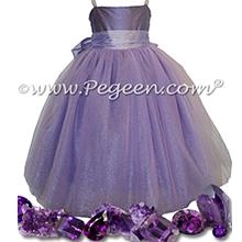 Amethyst Silk with Rhinestone Bodice - Our Amethyst Fairy Flower Girl Dresses Style 909