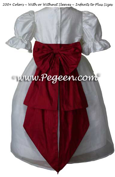 CRANBERRY CUSTOM FLOWER GIRL DRESSES