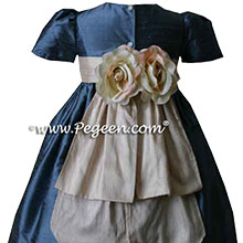 CUSTOM ARIAL BLUE FLOWER GIRL DRESSES