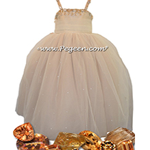 Topaz Silk with Crystals - Our Topaz Fairy Flower Girl Dresses Style 904