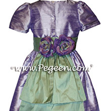 CUSTOM LILAC FLOWER GIRL DRESSES
