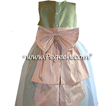 PEACH AND SAGE GREEN Flower Girl Dresses