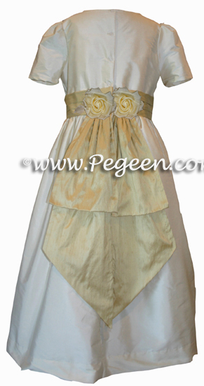 Buttercreme and sunflower flower girl dresses - Style 383