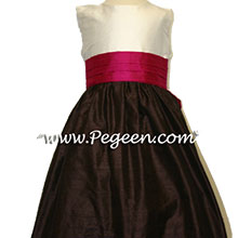 chocolate brown AND RASPBERRY FLOWER GIRL DRESSES