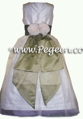 Matching Vera Wang Flower Girl Dresses Style 313 with customers own fabric