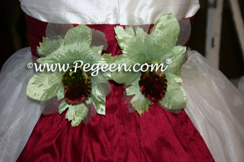 Customizing flowers on your Flower Girl Dress