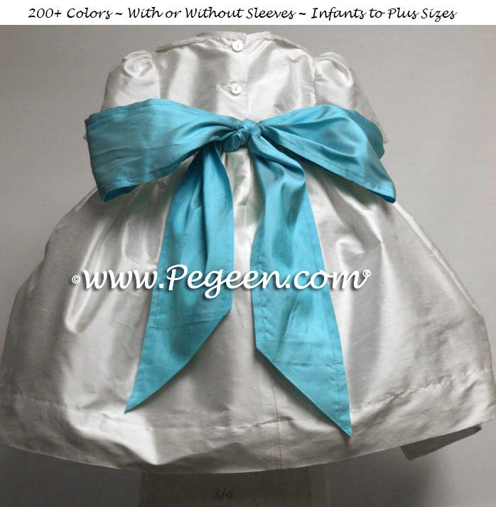 Bahama Breeze Infant flower girl dress in silk