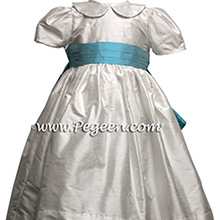 Bahama Breeze Infant flower girl dress in silk