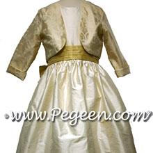 junior cotillion flower girl dress with bolero jacket