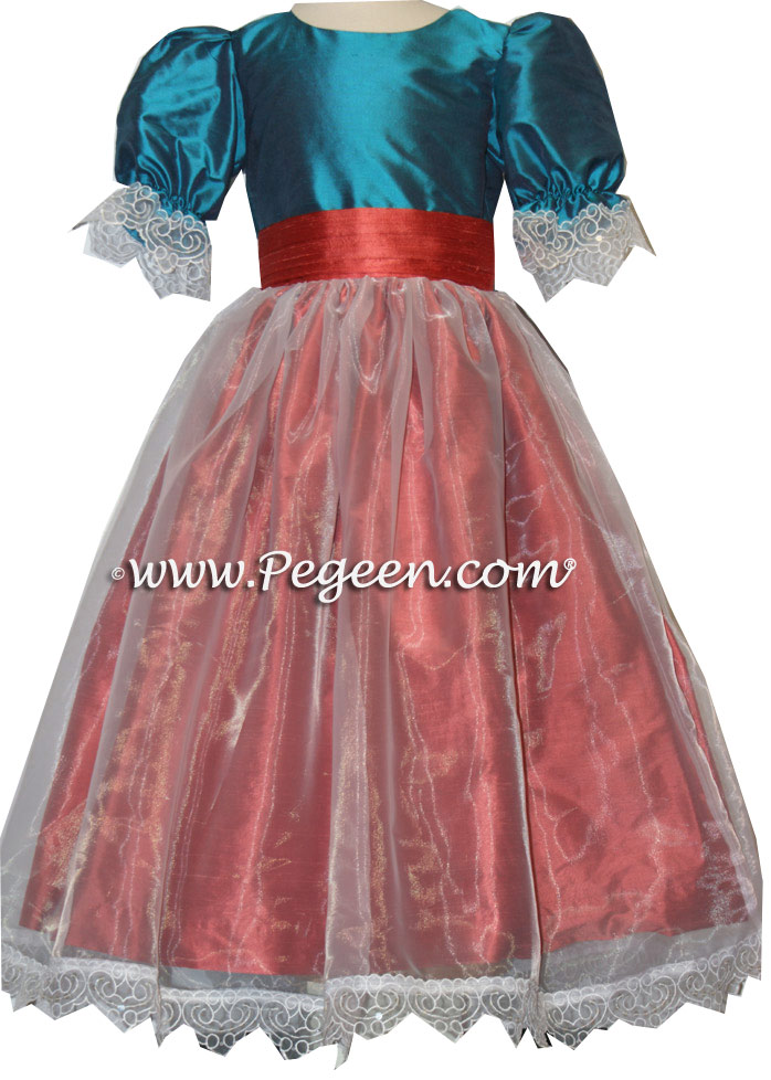 NUTCRACKER CLARA DRESS IN BALTIC BLUE AND SPICE