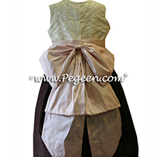PINK AND chocolate brown FLOWER GIRL DRESSES