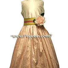 pink gingham junior bridesmaids dresses