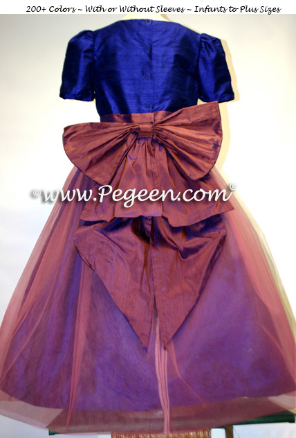 NUTCRACKER CLARA DRESS IN RAISIN WITH COLORED TULLE