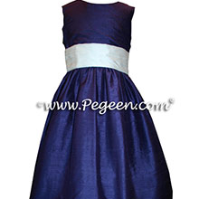 CUSTOM DEEP PURPLE GRAPE FLOWER GIRL DRESSES