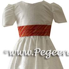 atriped flower girl dresses