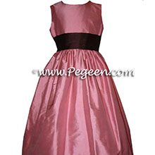 wood rose flower girl dresses
