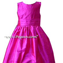 Raspberry Flower Girl Dresses
