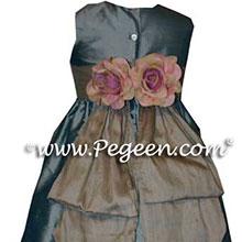 caribbean blue Flower Girl Dresses